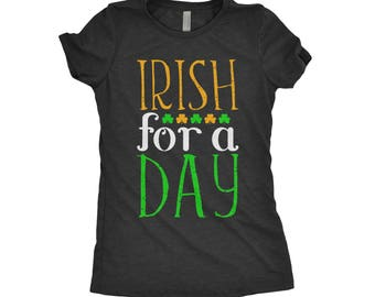 Irish For A Day, Ginger Pride, Irish-Ish, St Patty Day Tee, Irish As Feck, St Paddys, Flag, Saint Patrick Next Level Apparel Tri-Blend Shirt