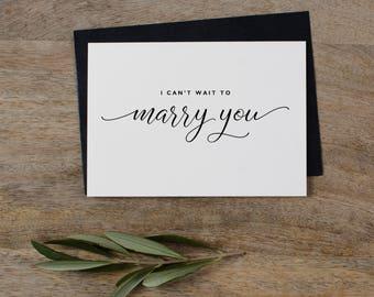 DIY I Cant Wait To Marry You Card, Card To Groom Template, Wedding Card Template, Printable Groom Card, Bride Or Groom Card -  KPC07_409