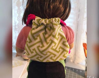 American Girl Doll (18 inch Doll) Drawtstring Backpack