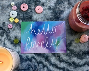 Hello Lovely Postcards (Pack of 10)