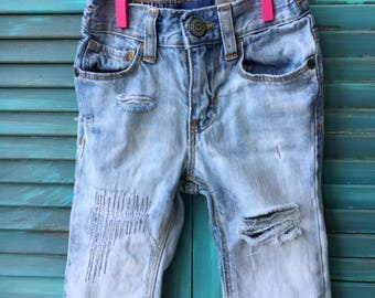 12/18 month distressed denim jeans