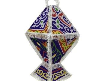 Handmade Ramadan Lantern Shades - Blue - 27 inch