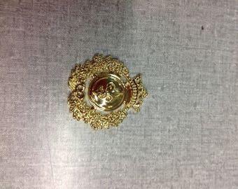 Gold Royal Insignia button (half dozen) per order