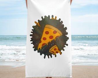 Cosmic Pizza Beach Towel