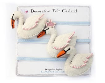Garland Swan felt / cotton