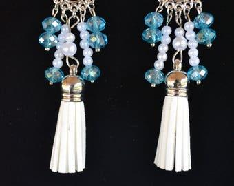 beautiful tassels chandelier earrings