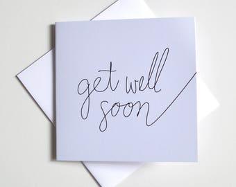 Greeting Card - Mini / Script get well soon