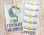 Unicorn sticker, unicorn decal,  Planner Stickers, water bottle Decal, Unicorn Water Bottle, travel cup decal, water bottle sticker