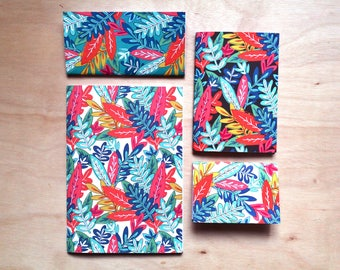 Set of 2 A4 Tropical Jungle dot grid softcover notebooks
