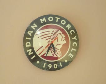 Indian motorcycle clock