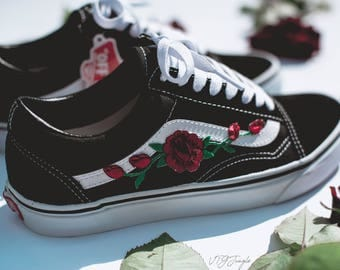 Vans Old Skool Custom - 'Rose Patch' - EUR 34.5 - 47 Unisex -  Rosen Stickerei Sk8 Hi Sneaker Tommy Hilfiger Ralph Lauren Gucci Schuh