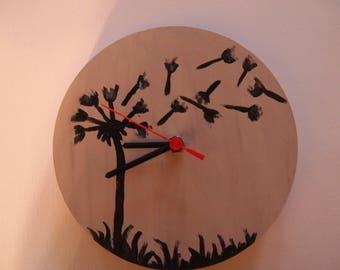 Cream hand made quartz wall clock