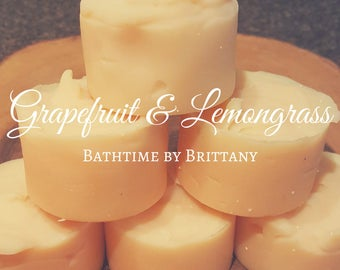 Grapefruit & Lemongrass Hair Care--Cold Process Shampoo--Ready to Ship--Shampoo Bar--Solid Shampoo--Conditioner Bar-Solid Conditioner-Travel