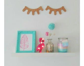 SLEEPY EYELASHES, glittered eyelashes, eyelashes, bedroom accessories, wooden eyelashes, children's bedroom accessories, children's nursery