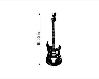Electric guitar - Wall decal