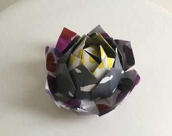 Origami Lotus Brooch