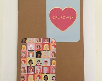 Decorated Notebook - Girl Power (N01)