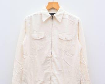 Vintage SISSY By KANSAI YAMAMOTO White Flannel Buttondown Size M