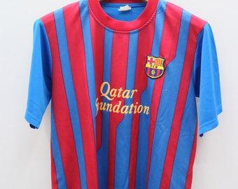 Vintage FCB Futbol Club Barcelona MESSI 10 Sportswear Blue Jercy