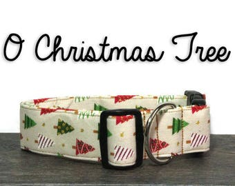 Christmas Dog Collar, Holiday Dog Collar, Christmas Tree Collar, Christmas Collars, Gifts for Dogs, Dog Lover Gift, Christmas Trees