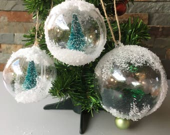 Snowy Christmas Tree Baubles