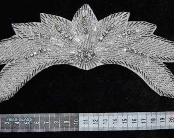Rhinestone Crystal tiara/crown appliqué