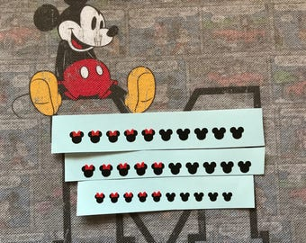Minnie Mouse & Mickey Mouse Heads Disney themed Storybook Nails decals x 10 Available in 2 sizes ** Free Postage **