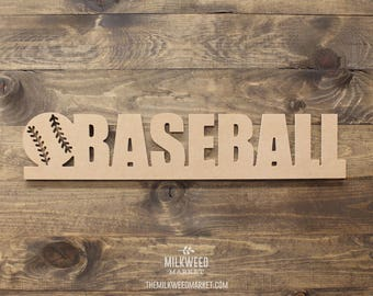 Baseball with Ball Cutout Sign