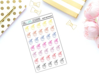 CHINESE TAKEOUT Stickers | Noodles | Erin Condren | Happy Planner | Recollections | Glossy Stickers