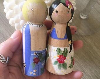 Custom Peg Doll Couple