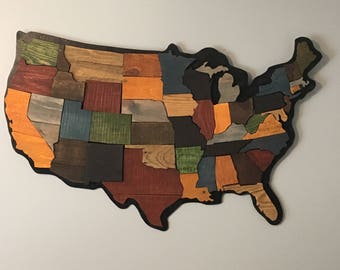 United States Map- Pallet Wood
