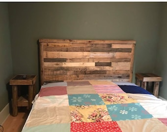 Handcrafted Pallet Bed - Headboard and Footboard