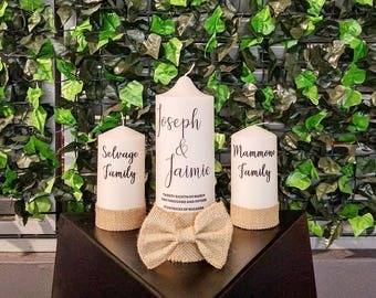 Wedding Candle, Wedding Candles, Unity Candles, Church Candles, Rustic Candles, Rustic Wedding, Wedding Candle Set