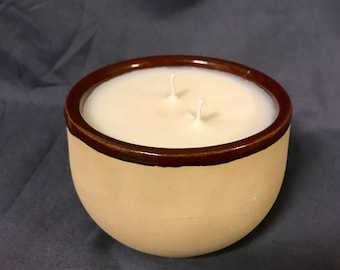 Sweet Coffee Cake Scented Soy Candle in Bean Crock