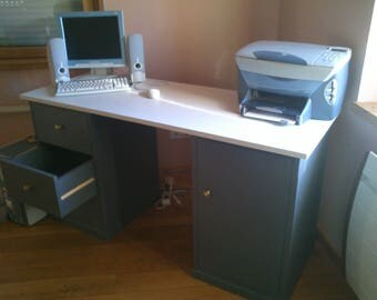 Slate Grey Northern FIR desk and chalky white