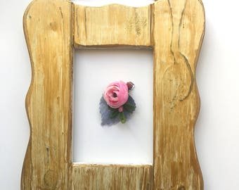 Single Pink Flower Succulent Clip