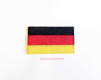 1x GERMAN flag iron on patch GERMANY Berlin north Europe World trip backpack Embroidered Applique logo black red yellow