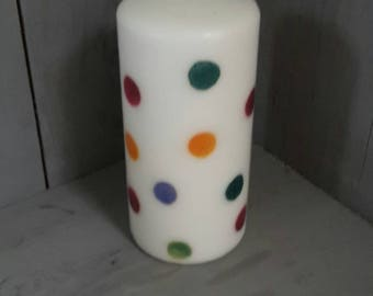Decorative candles,decoupage candles,Pillar candle,Pillar candles,gift for her, mothers day gift,Emma Bridgewater, table decor