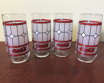 Set of Four Coca-Cola Drinking Glasses