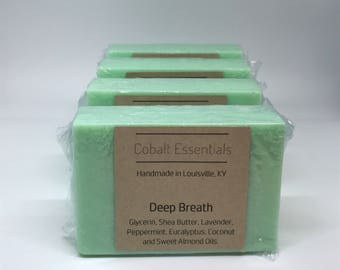 Deep Breath - Hydrating Soap - Essential Oil Soap - Handmade Soap - Shea Butter Soap - Natural Soap - Lavender Soap - Eucalyptus Soap