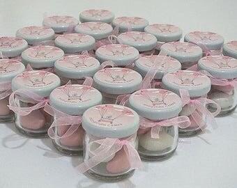 SUGARED ALMONDS JARS/Baby shower favours/Christeni g/Sugared almonds / Jars/