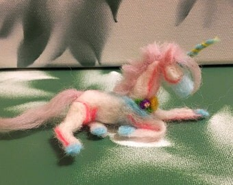 Needle Felted Fantasy Unicorn