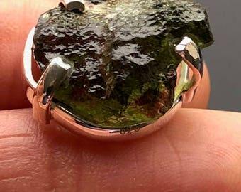 Moldavite 925 Silver Pendant ~ High Vibration ~ Transformational Stone ~  4.5gm