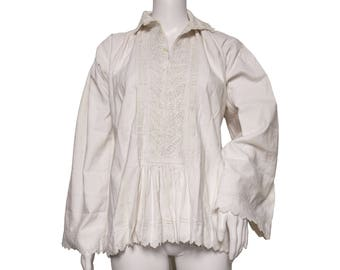 Early 20th-Century Romanian Peasant Blouse