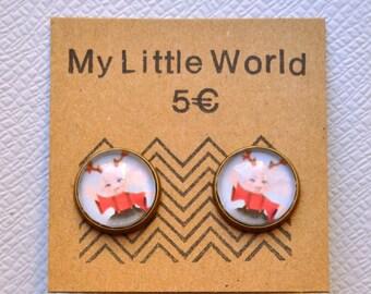 Little girl Christmas Reindeer earrings