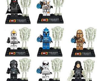 Lot of 16 figures Lego Star Wars customized