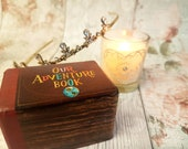 Our Adventure Book Luxury Wedding Ring Box  / Up Wedding Double Ring Box / Engagement  / Proposal / Disney Wedding Theme