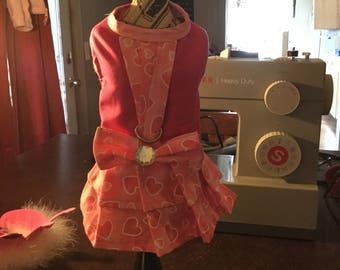 Puppy buns harness dog dress