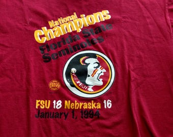 FSU Florida State University Seminoles 1994 NCAA football championship t-shirt