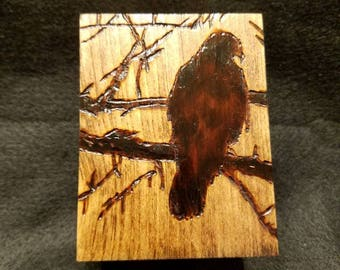 Red-tailed Hawk Wooden Box